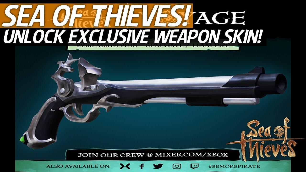 Sea Of Thieves - How To Unlock An Exclusive Flintlock Skin! #SeaofThieves