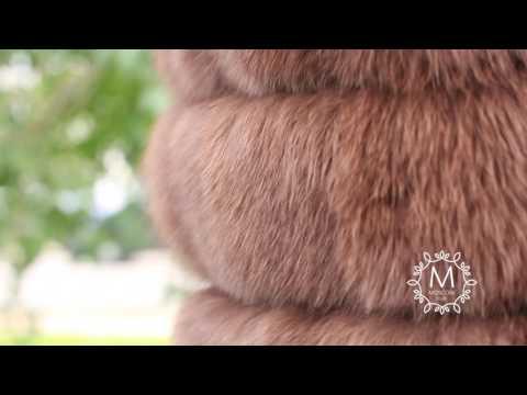 Меховой жилет. Купить меховой жилет из песца. Москва, Спб, Екатеринбург