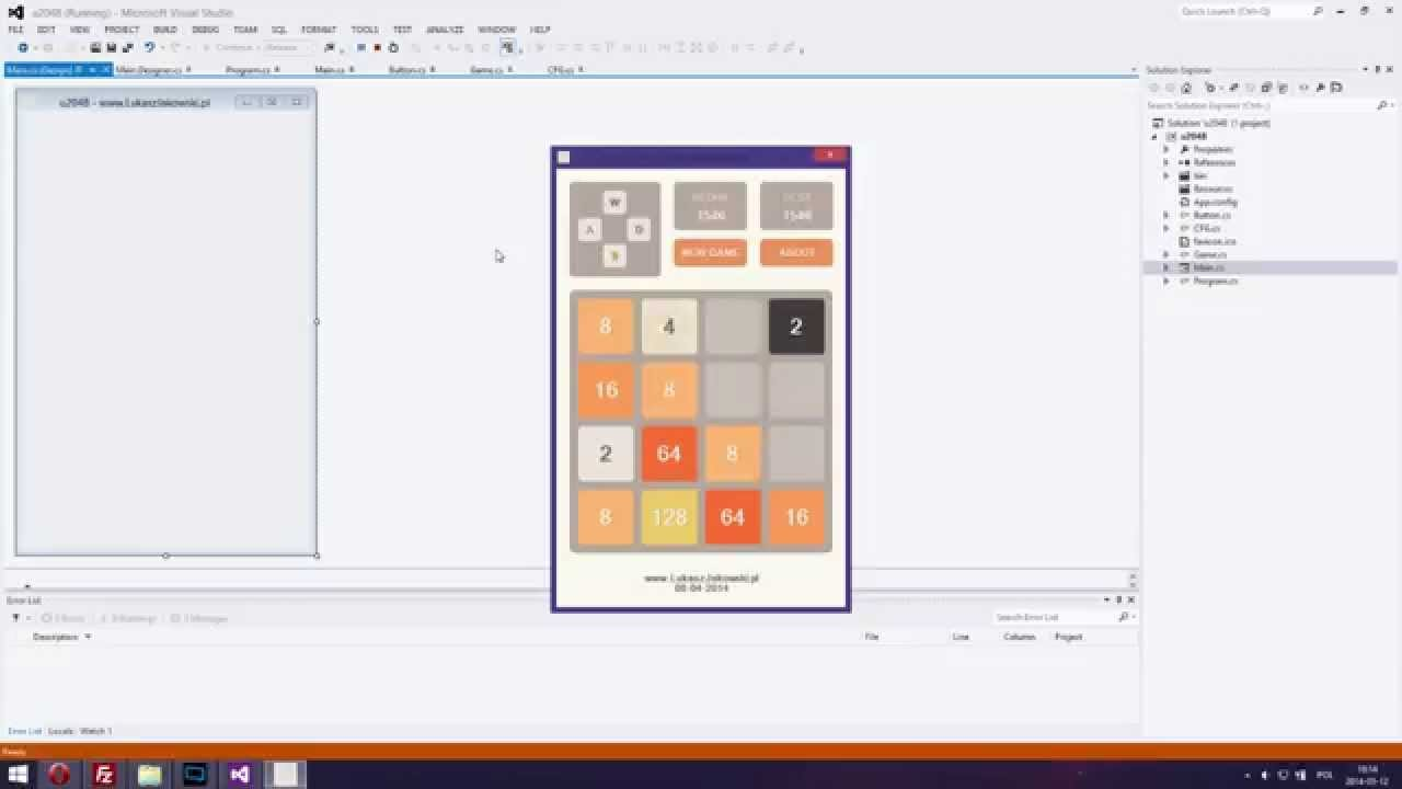 Can '2048' types games be created using only C language ...