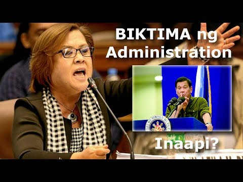 DE LIMA feels she is a VICTIM of this administration