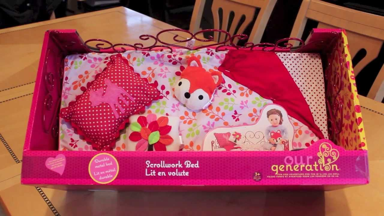 Opening Review Our Generation American Girl Doll Bed
