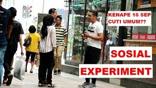 Orang Melayu tapi taknak bersalam ape hal Sosial Experiment Hari Malaysia