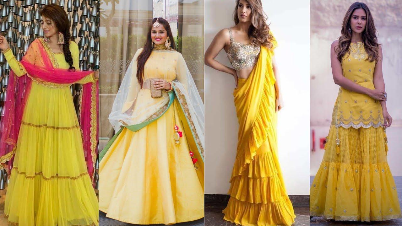 Latest Haldi ceremony dress designs