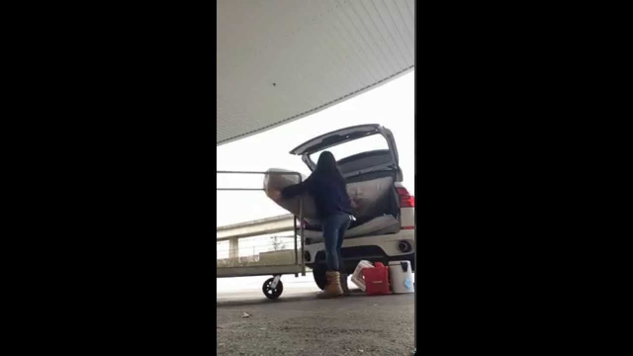 How To Fit A Queen Size Mattress In An Suv On Your Own Time Lapse You