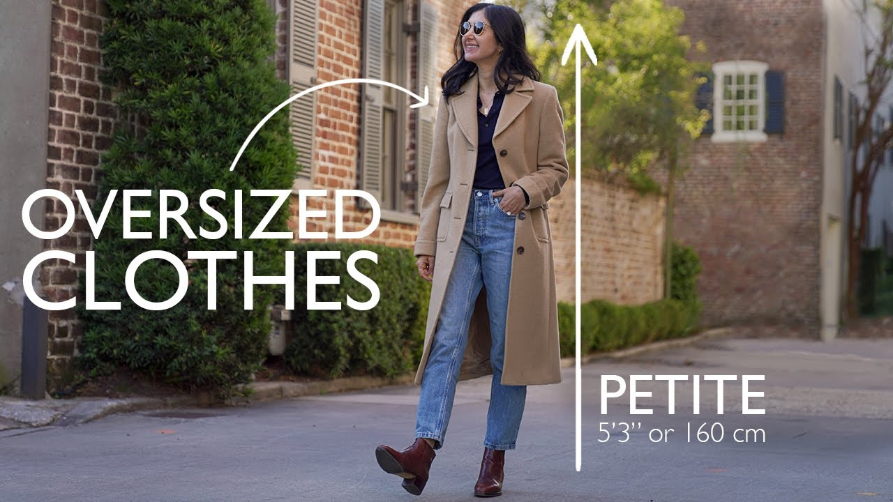 How To Style OVERSIZED Clothing - PETITE STYLE Tips