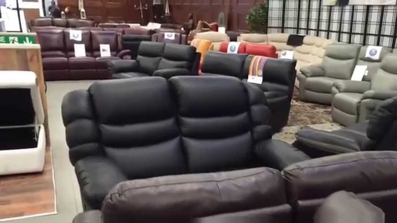 Sofa Warehouse Clearance Uk Slim Set La Z Boy Factory Outlet Leather Sofas And Corner Groups Iat Half Price Youtube
