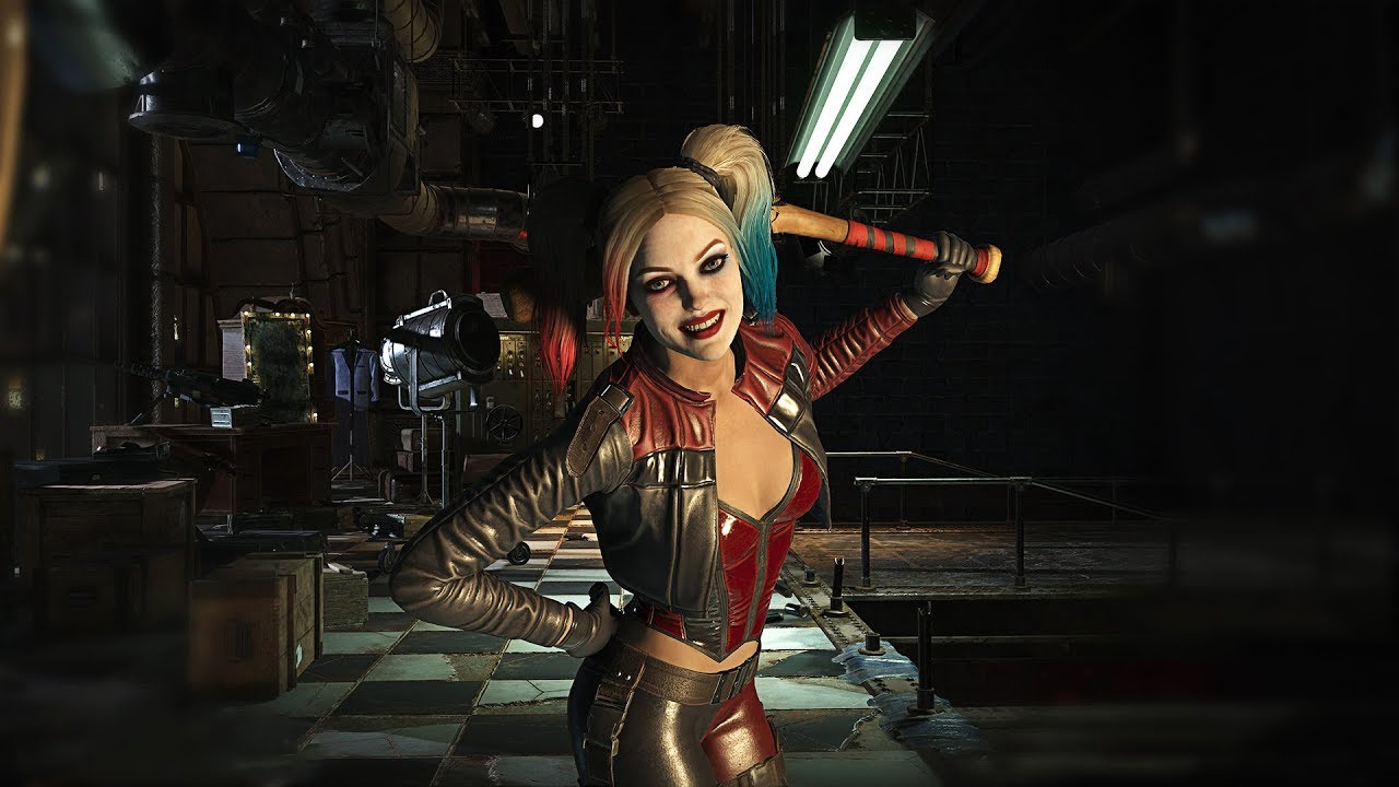 All Harley Quinns Scenes In Injustice 2 - YouTube