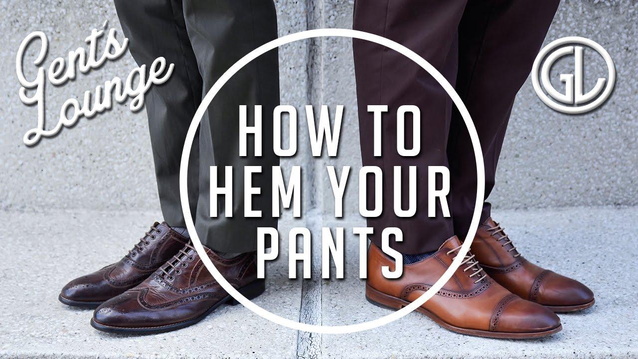 How To Hem Your Suit Pants Full Break Half Break No Break