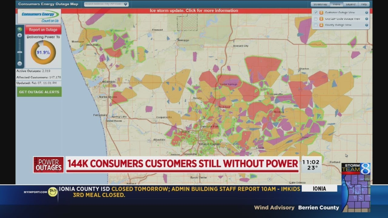 Tracking DTE outages and Consumers Energy outages