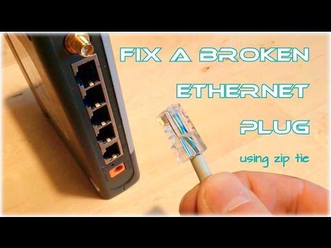 Jak naprawić ułamaną końcówkę kabla od internetu