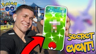 I CAUGHT A NEW SHINY + NEW LEAKED POKÉMON GO EVENT!