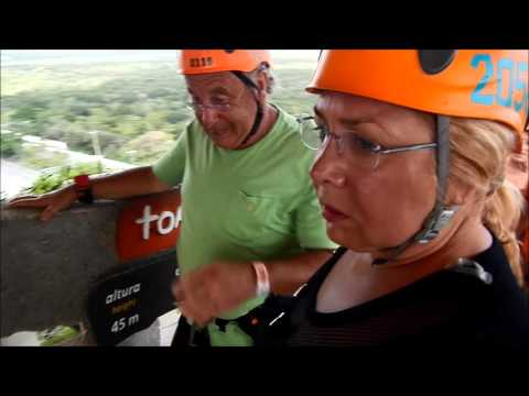 XPLOR Zip-Lines. Cancun Mexico. All must go! Adrenalin in blood! 45 Meter high!