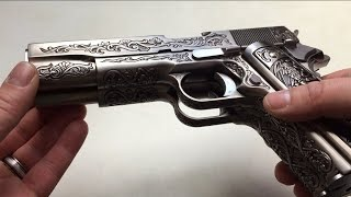 Wei-ETech M1911 Double Barrel Etched Version Mehico Druglord Review Test GBB 6mm Airsoft