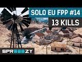 EU FPP Solo Game #14 | 13 Kills Win | First Win After Comeback :)