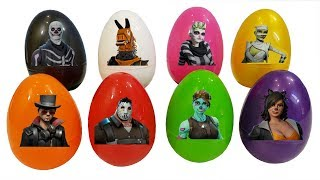 Fortnite Skins Learn Colors With Surprise Eggs Learning & Dance Review