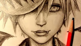 ASMR | Pencil Drawing 40 | Kingdom Hearts (Request)