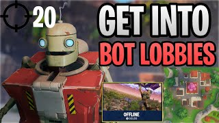 How To Get Into/Find Bot/Bad Player Lobbies Fortnite Saison 10 (PS4/XBOX/Mobile/PC/Mac/Nintendo)