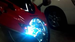 2006 Suzuki GSXR 600 cc RED/BLACK Scorpion Slip ON Exhaust Flame Titanium