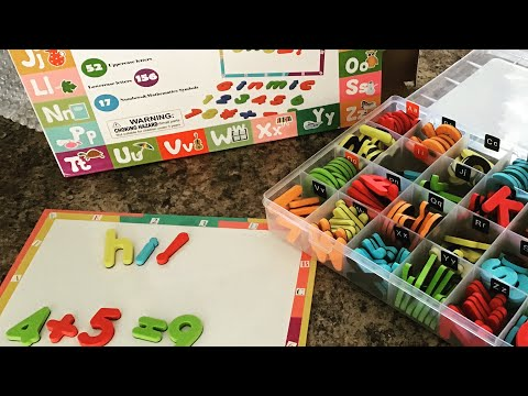 ginmic-magnetic-letters-&-numbers-board-review-|-educational-toys-|-montessori