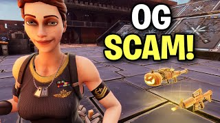 OG RAREST SCAM! ONLY 0.6% ONLY KNOW! 🤫🤯 (Scammer Get Scammed) Fortnite Save The World