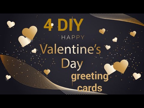 Valentine cards handmade easy/valentines day card making ideas/greeting cards latest design handmade