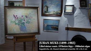 Juhan Muks. Lilled sinises vaasis. 1970ndate lõpp – 1980ndate algus