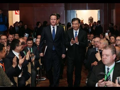 British PM David Cameron attends business summit in Beijing