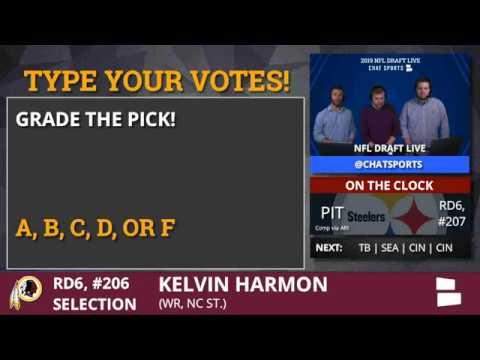 Redskins select North Carolina State WR Kelvin Harmon in Round 6