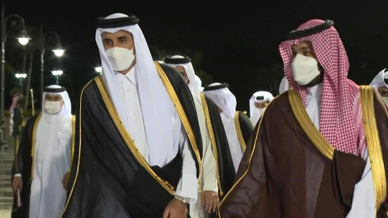 أمير قطر يجري ثاني زيارة للسعودية منذ إعادة العلاقات بين البلدين | AFP