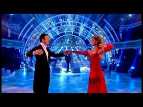 Anton and Erin dance while Michael Buble sings