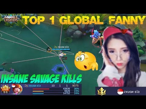 Learning From Top 1 Global Fanny | Insane SAVAGE KILL Gameplay - Mobile Legends Top Build
