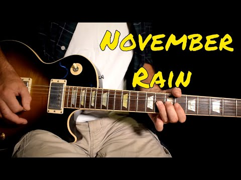 Guns n Roses – November Rain solo cover (Better Quality)
