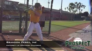 Brandon Perez Prospect Video, Inf, University of Southern California