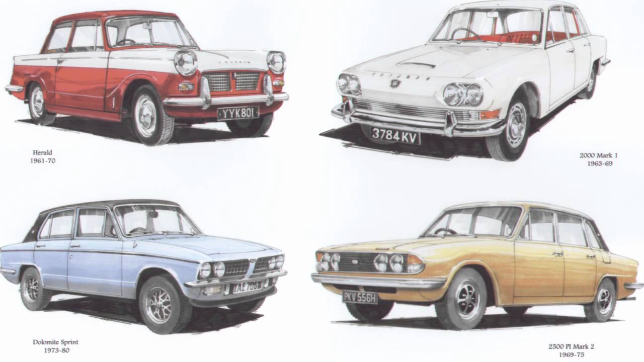 Classic Triumph Saloon Cars Dolomite Sprint Herald