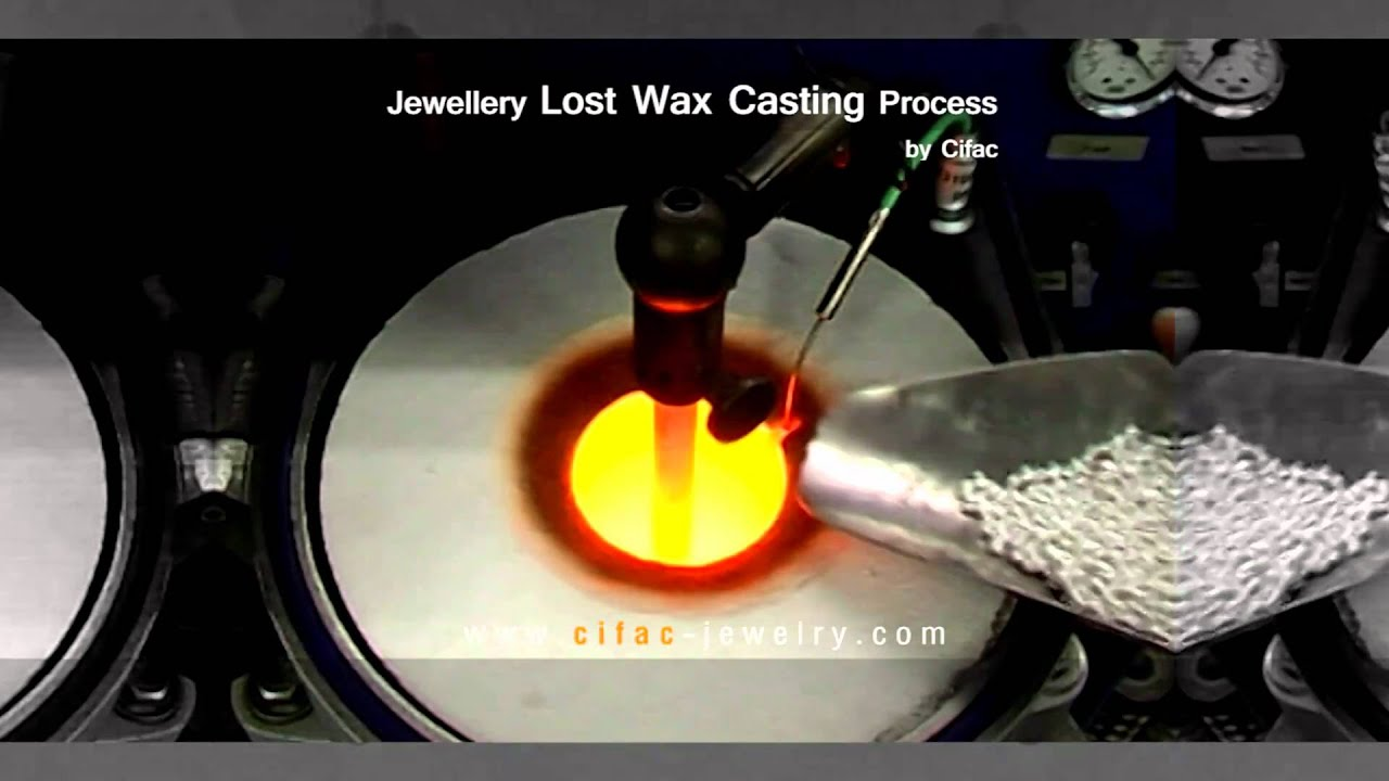 jewelry lost wax casting process by cifac youtube