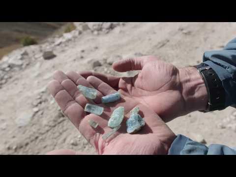 Mining Big Aquamarines on Mt Antero