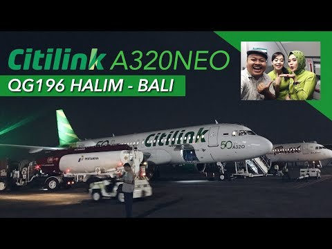 CITILINK A320NEO + New Crew Uniform! QG196 Halim to BALI Flight VLOG