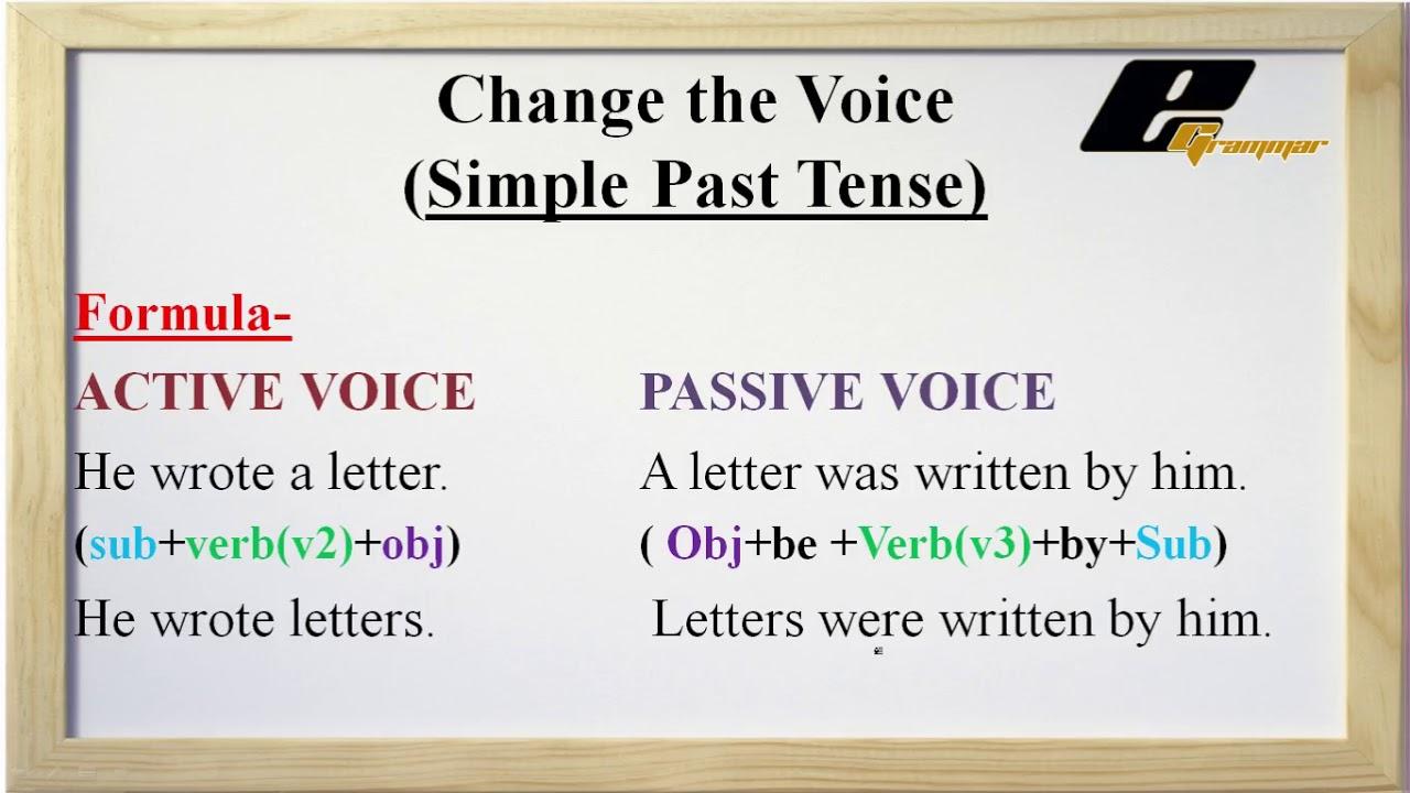 Passive voice simple present and past tense exercises pdf