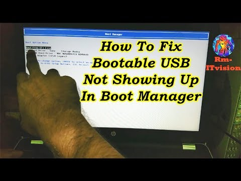 Bootable USB Not Showing Up In Boot Menu Windows 10 In HP| USB Flash Drive Not Showing In Boot Menu