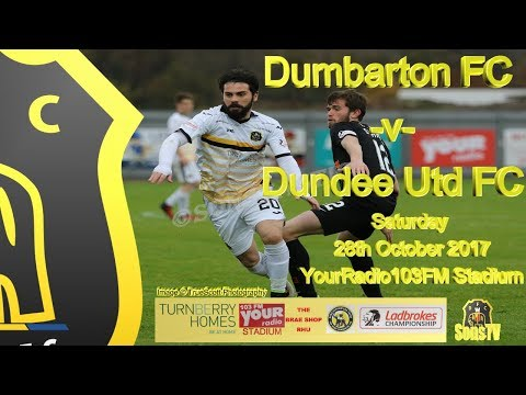 Dumbarton FC v Dundee Utd FC, 28th October 2017