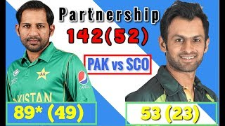 PAKISTAN VS SCOTLAND 2nd T20 | SARFRAZ & SHOAIB (142 ON JUST 52)| FULL HIGHLIGHTS 2018 | GAME ON HAI