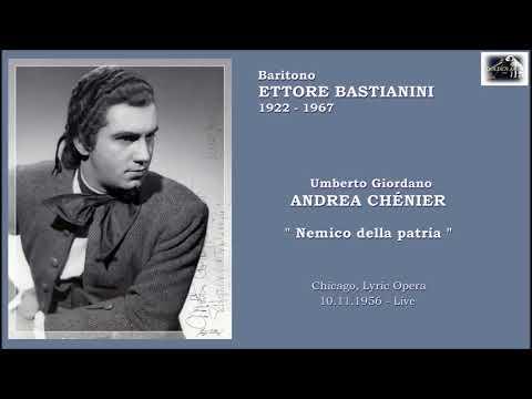 """Baritono ETTORE BASTIANINI - Andrea Chénier  """"Nemico della patria""""  (1956  Live)"""