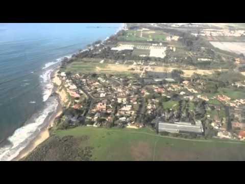 United Airlines CRJ200 Overwater Landing At Santa Barbara #Oscars2016