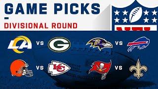 Divisional Round Game Picks!   NFL 2020