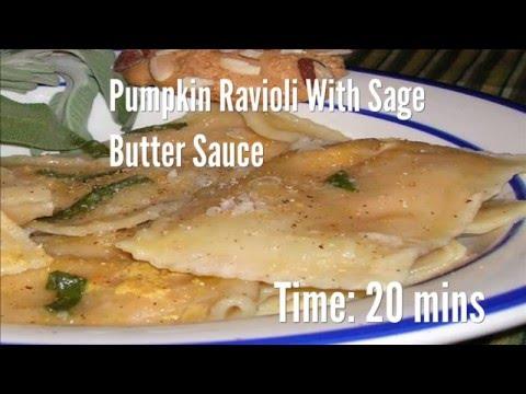 Pumpkin Ravioli With Sage Butter Sauce Recipe