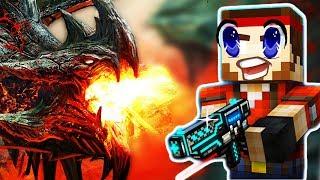 Непобедимый ДРАКОН напал на меня в игре Pixel Gun 3D детский летсплей в игре как мультик Майнкрафт