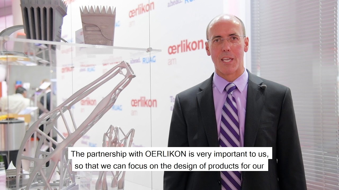Michael Pavloff on RUAG Space & Oerlikon partnership for additive manufacturing