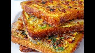 Masala French Toast Quick, Easy Spicy recipe.