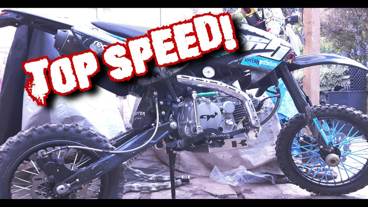 160cc PIT BIKE TOP SPEED! SMALL WHEEL SETUP!