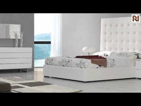 Lyrica White Bonded Leather Tall Headboard Bed Vgkeklyricawht